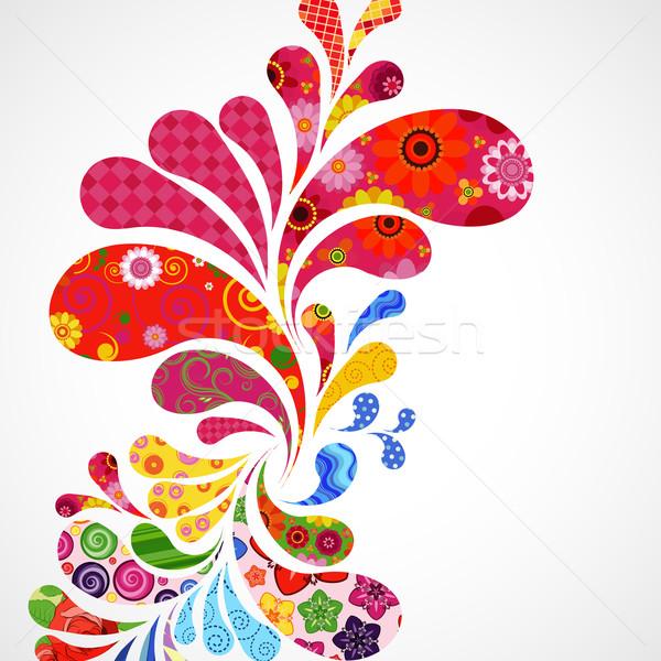 На 25 цветочный декоративный пункт цветок текстуры Сток-фото © OlgaYakovenko
