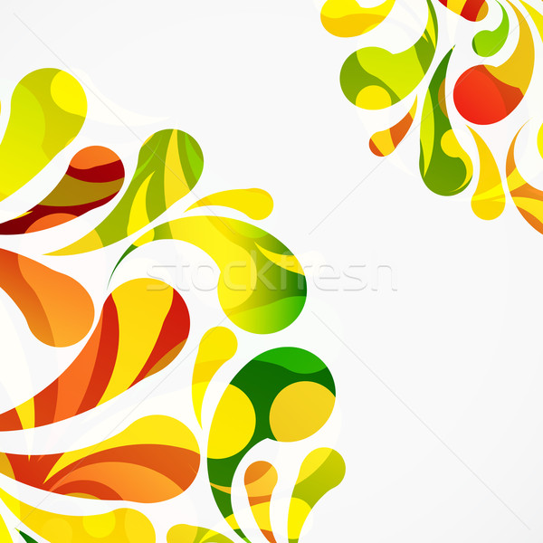 Decorative colorful arc drops background. Stock photo © OlgaYakovenko