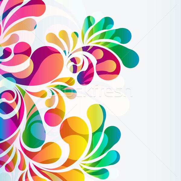 Foto d'archivio: Abstract · colorato · vettore · sfondo · arte · estate