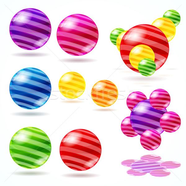 抽象的な 球 ガラス ウェブ ボール 企業 ストックフォト © OlgaYakovenko