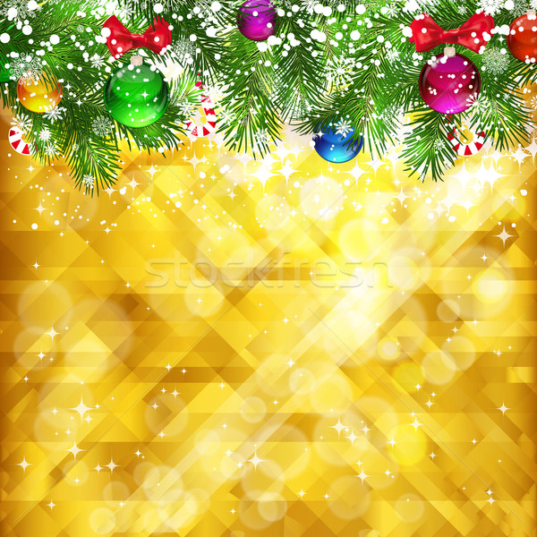 Stars golden background and place for your text , vector, EPS 10 Stock photo © OlgaYakovenko