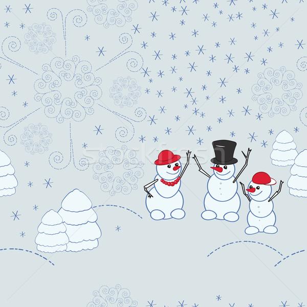 Christmas seamless patter Stock photo © OlgaYakovenko