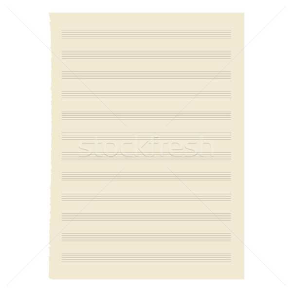 Vector. sheet music. Stock photo © OlgaYakovenko