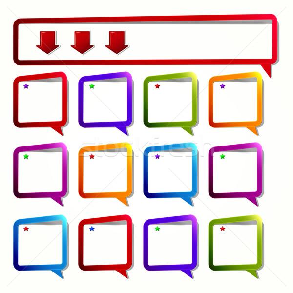 Largo 12 cuadrados etiqueta forma vacío Foto stock © OlgaYakovenko