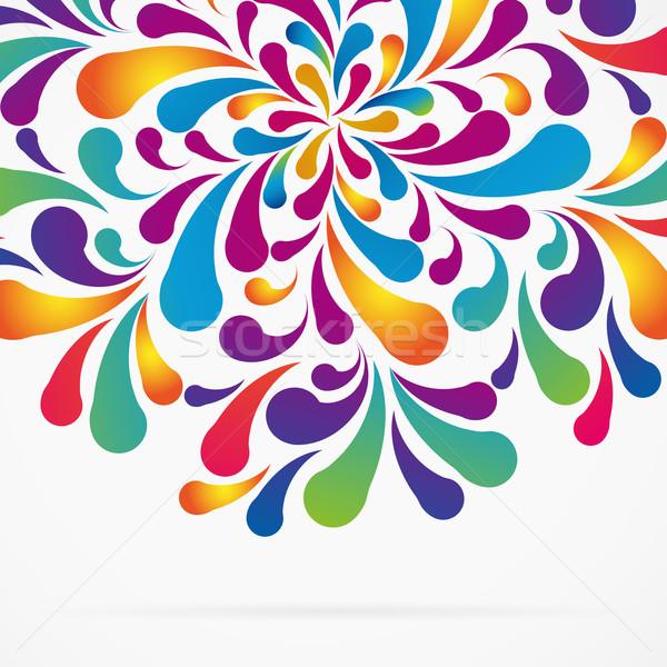 круга красочный дуга капли декоративный Сток-фото © OlgaYakovenko