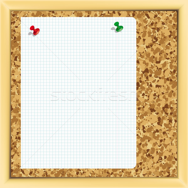 Vector. Pins on a cork notice board. - Illustration for your design Stock photo © OlgaYakovenko