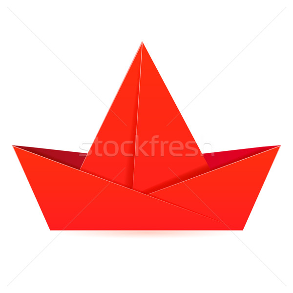 Abstract background with a paper boat. Stock photo © OlgaYakovenko