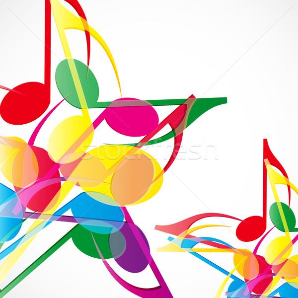 Vector music stars background. Colorfull music notes. Stock photo © OlgaYakovenko