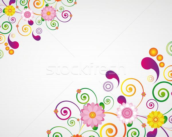 Tarjeta de regalo floral diseno Pascua naturaleza marco Foto stock © OlgaYakovenko