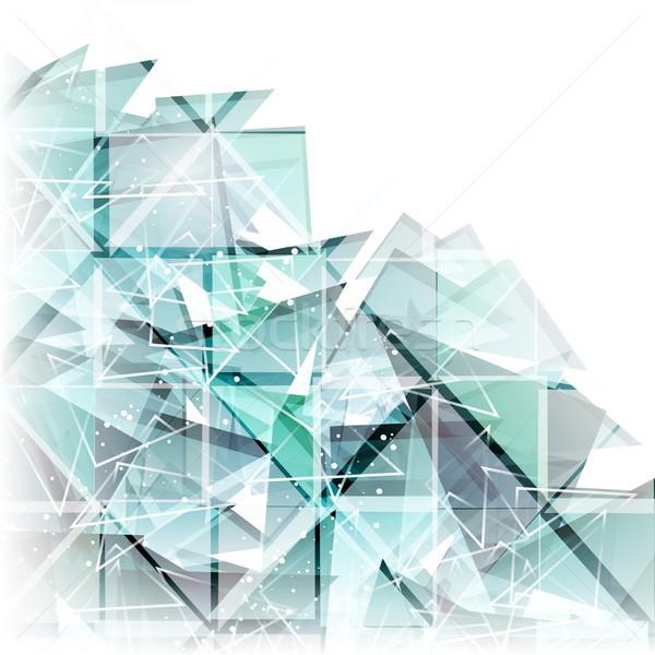 vector abstract techno background  Stock photo © OlgaYakovenko
