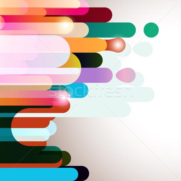 радуга полосатый искусства пространстве красный фары Сток-фото © OlgaYakovenko