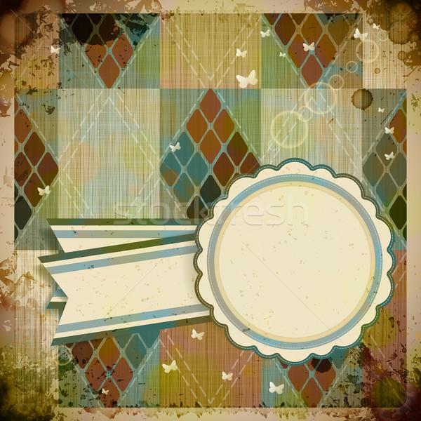 Soyut Retro etiket kâğıt kitap kelebek Stok fotoğraf © OlgaYakovenko