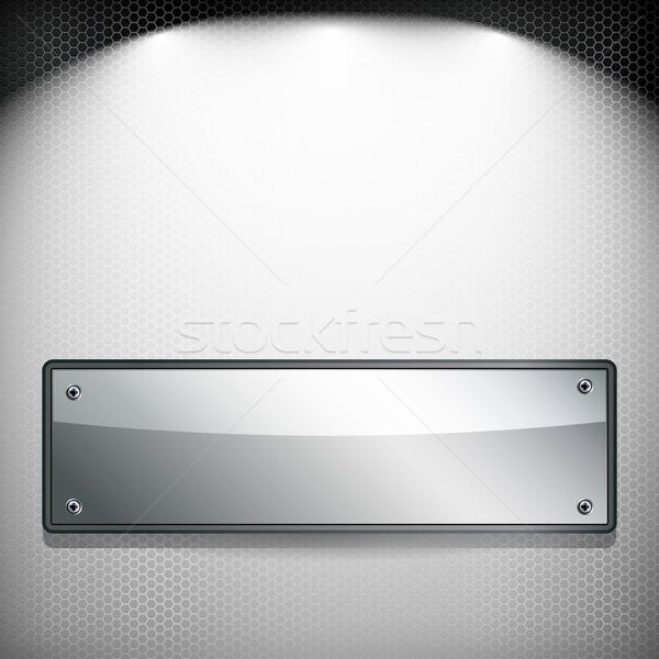 Eps10 抽象的な 金属 バナー 焼き 技術 ストックフォト © OlgaYakovenko