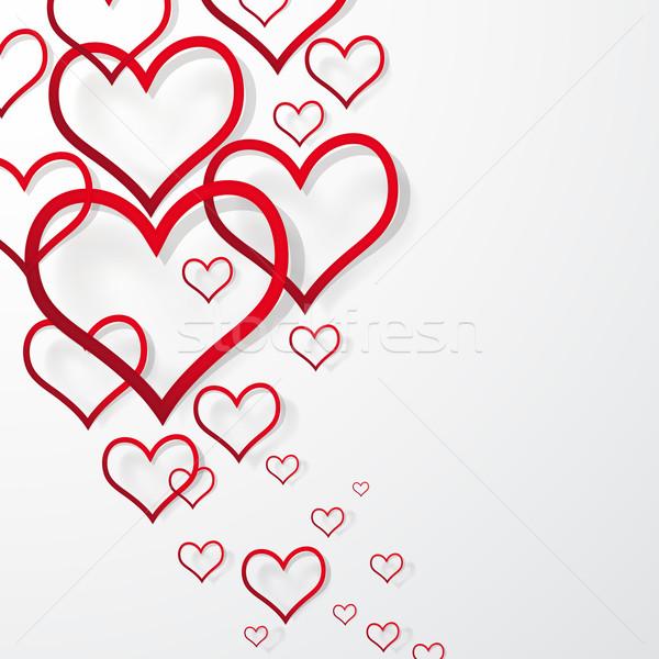 Stok fotoğraf: Soyut · valentine · kalp · dizayn · arka · plan · çerçeve