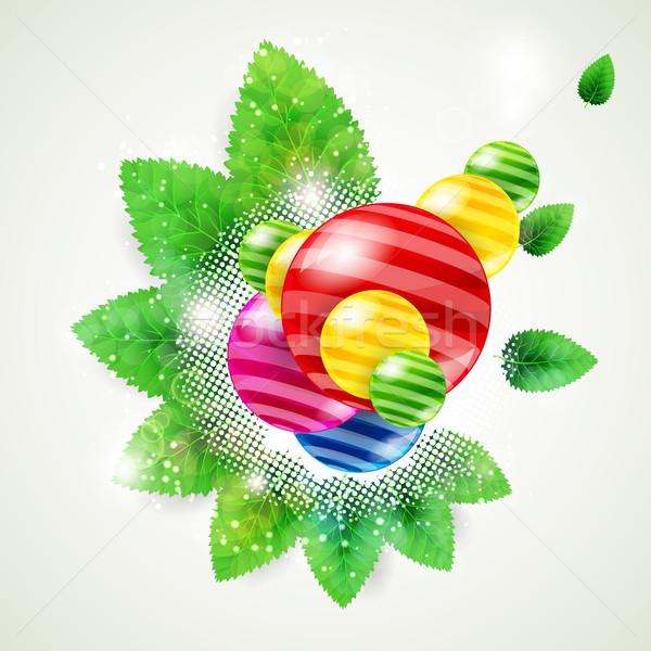 природы аннотация весны лист лет шаблон Сток-фото © OlgaYakovenko