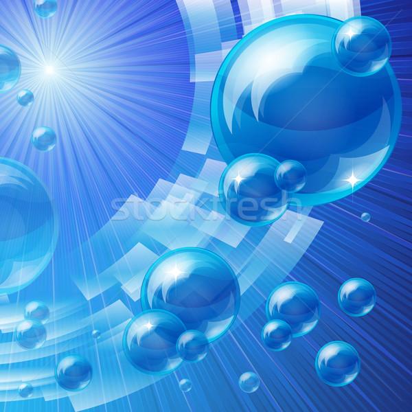 Blue bubbles background Stock photo © OlgaYakovenko