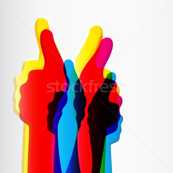 Come simbolo abstract sfondo gruppo Foto d'archivio © OlgaYakovenko