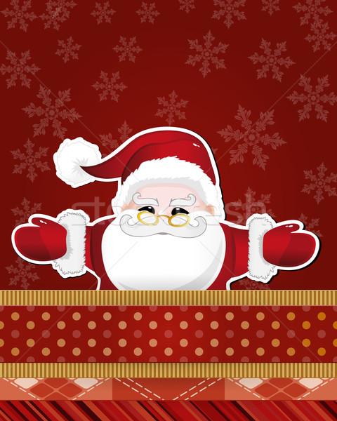 Christmas card with Santa Claus. Vector illustration.  Stock photo © OlgaYakovenko