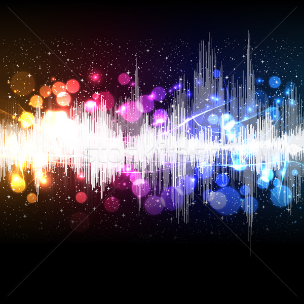 waveform music vector background Stock photo © OlgaYakovenko