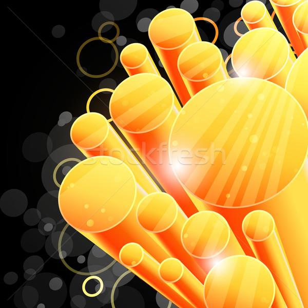 Stockfoto: 3D · abstract · technologie · textuur · ontwerp · oranje