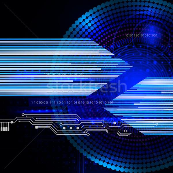 Abstract techno background  Stock photo © OlgaYakovenko