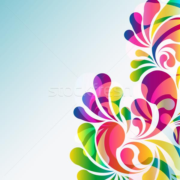 Zdjęcia stock: Streszczenie · kolorowy · wektora · tle · sztuki · lata