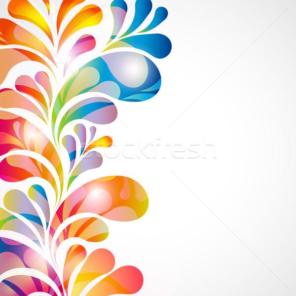 Abstrakten hellen Design Hintergrund Web blau Stock foto © OlgaYakovenko