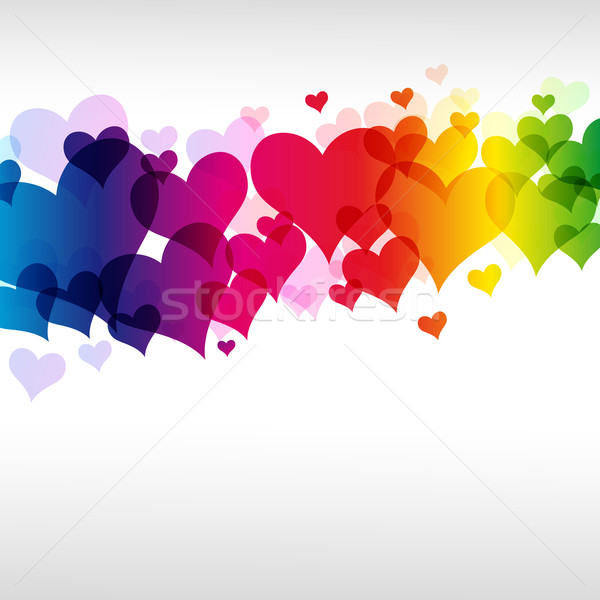 colorful heart background Stock photo © OlgaYakovenko