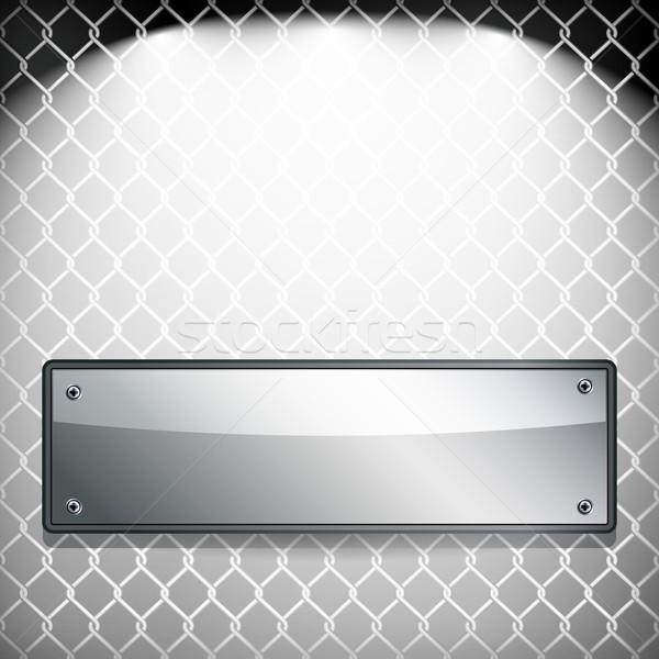 ストックフォト: Eps10 · 抽象的な · 金属 · バナー · 焼き · 技術