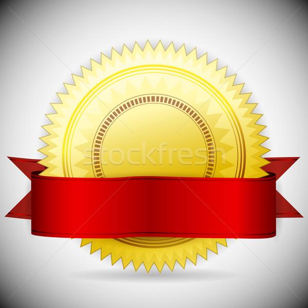 Vector gouden label bureaucratie teken web Stockfoto © OlgaYakovenko