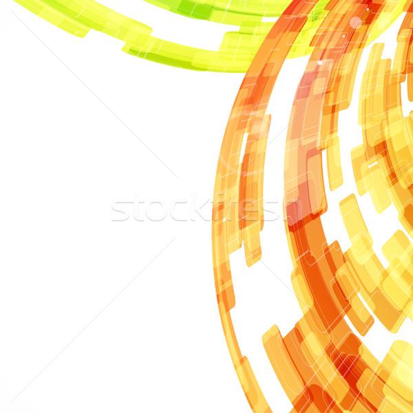Techno abstract background. Vector. Stock photo © OlgaYakovenko