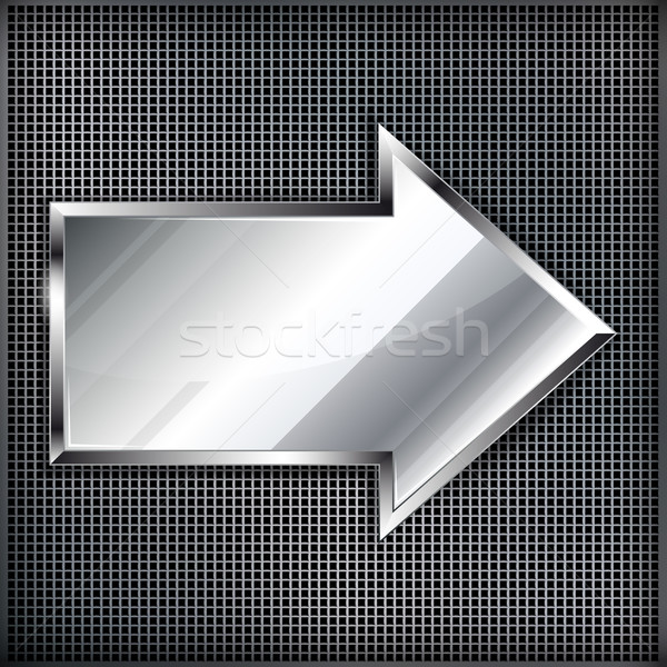Ok işareti Metal örnek inşaat duvar dizayn Stok fotoğraf © OlgaYakovenko