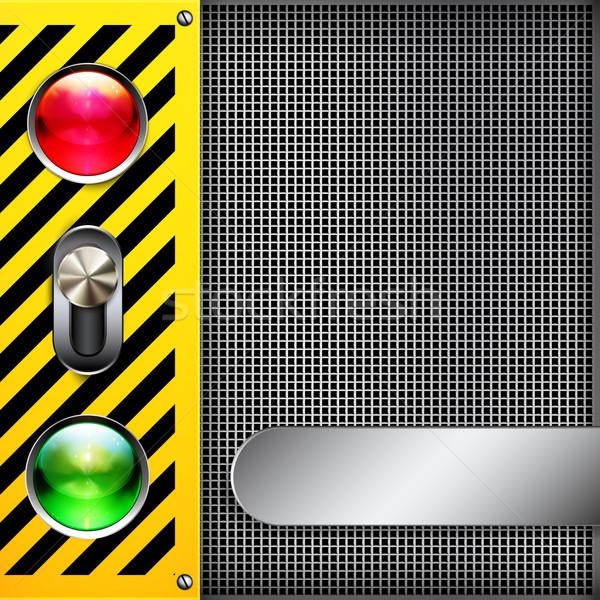 Vektör soyut techno elemanları web yeşil Stok fotoğraf © OlgaYakovenko