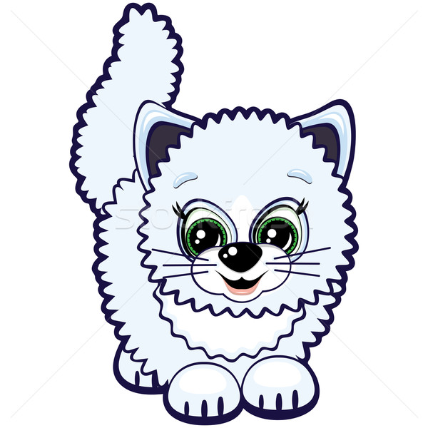 Little Cat One Of The Symbols Of The Chinese Horoscope Vector