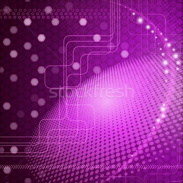 Abstract techno business textuur licht web Stockfoto © OlgaYakovenko