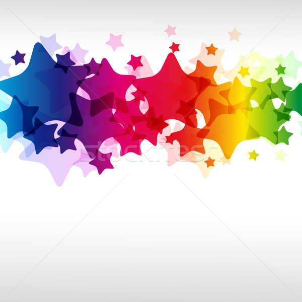 Star illustrazione notte Rainbow wallpaper digitale Foto d'archivio © OlgaYakovenko