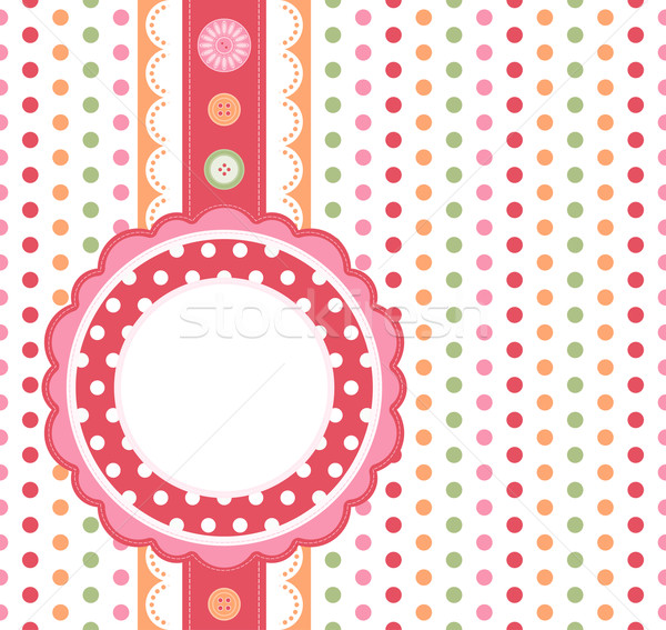 Polka dot design frame  Stock photo © OlgaYakovenko