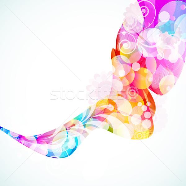 аннотация цветочный волна цветок дизайна фон Сток-фото © OlgaYakovenko