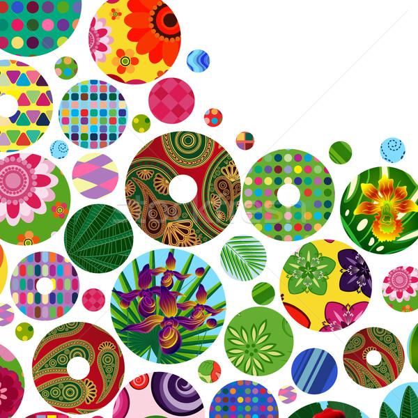 Stockfoto: Abstract · heldere · cirkels · communie · ontwerp