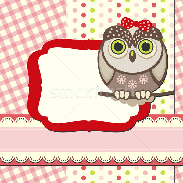baby owl scrap background. Stock photo © OlgaYakovenko