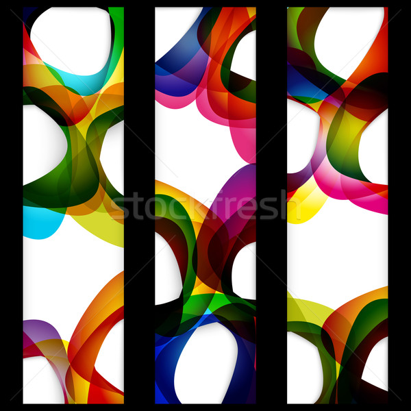Abstrakten Banner leer Frames Web-Design Raum Stock foto © OlgaYakovenko