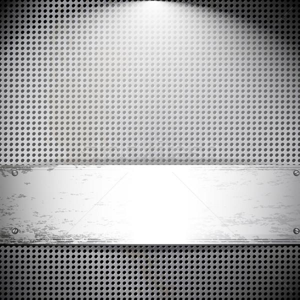 Komórek metal wektora karty tle przemysłu Zdjęcia stock © OlgaYakovenko