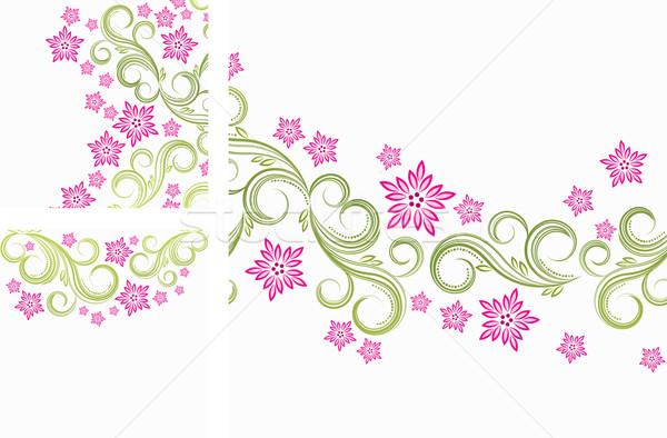 Foto stock: Floral · páscoa · abstrato · natureza · projeto · folha