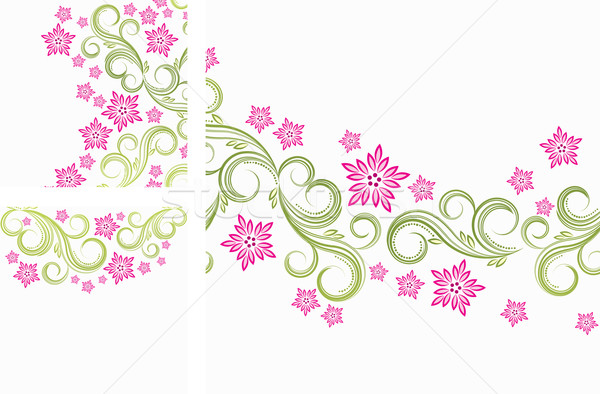 Floral curls background Stock photo © OlgaYakovenko