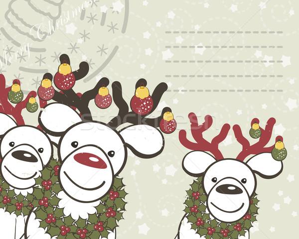 Noel komik noel baba dizayn ay yeşil Stok fotoğraf © OlgaYakovenko