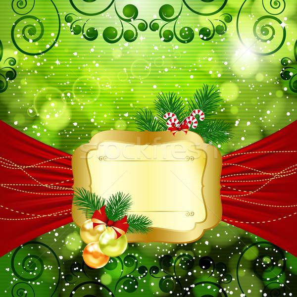 Weihnachten hellen Stelle Text glücklich Design Stock foto © OlgaYakovenko
