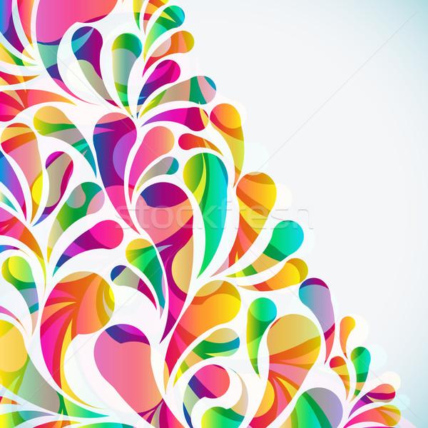 Abstract colorful arc-drop background. Vector. Stock photo © OlgaYakovenko