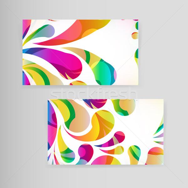 Probe Visitenkarte hellen Hintergrund Rahmen Zeichen Stock foto © OlgaYakovenko