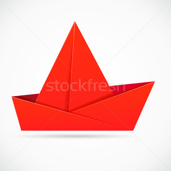 Origami Boat With 2 Sails Photo Tutorial - Paper Kawaii | 600x600