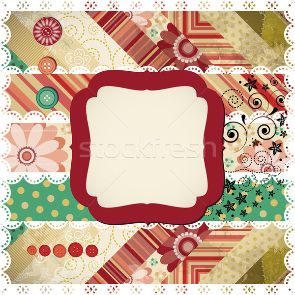 Scrap background made in the classic patchwork technique. Stock photo © OlgaYakovenko